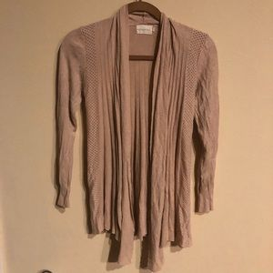 Dreamers waterfall cardigan dusty rose blush XL